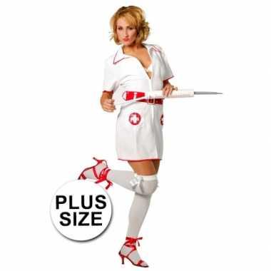 Plus size verpleegster carnavalskostuum
