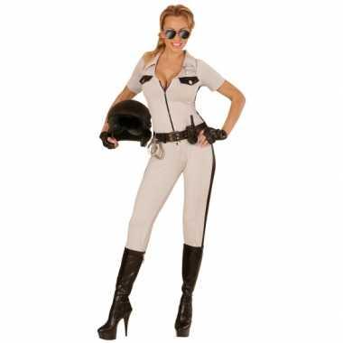 Carnaval  Politie kostuum USA beige dames