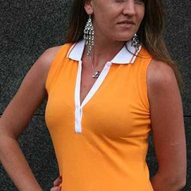 Polo shirt dames zonder mouwen