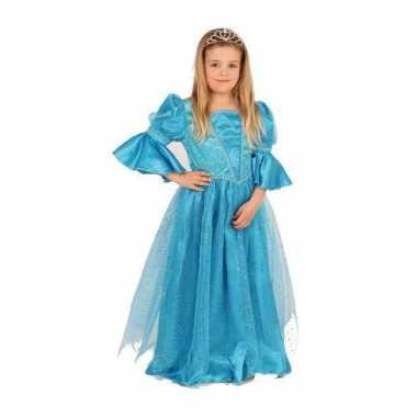 Carnaval  Prinsessen jurk blauw meisjes kostuum