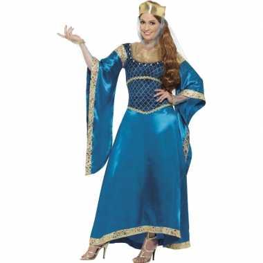 Carnaval  Prinsessen jurk blauw kostuum