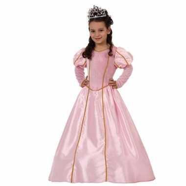 Carnaval prinsessen verkleedjurk roze kostuum