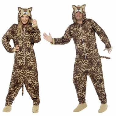 Carnaval  Pyamakostuum luipaard dames heren