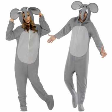 Pyamakostuum olifant dames heren