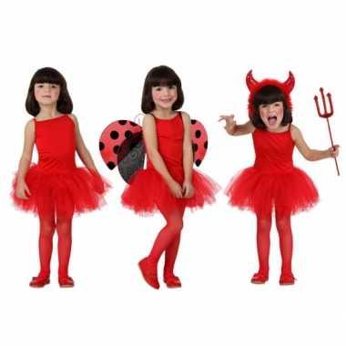 Carnaval  Rode ballet kostuum meisjes