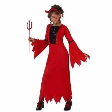 Carnaval rode duivel jurk meisjes kostuum