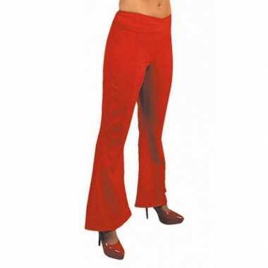 Rode hippie carnavals dames broeken kostuum