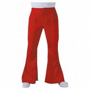 Carnaval  Rode hippie heren broek kostuum