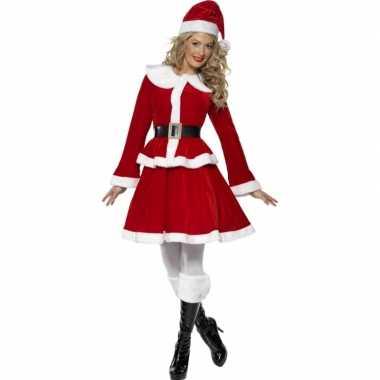 Carnaval  Rode kerst pak vrouwen kostuum