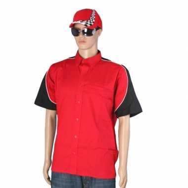 Carnaval  Rode race coureur shirt pet maat XL kostuum