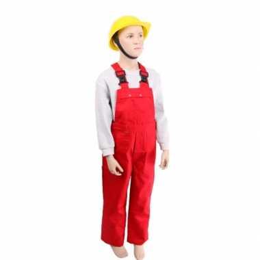 Carnaval  Rode tuinbroek kinderen kostuum