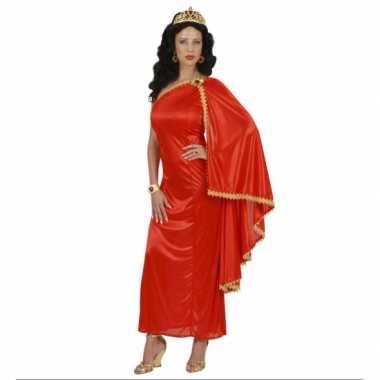 Carnaval  Romeinse dames jurk rood kostuum