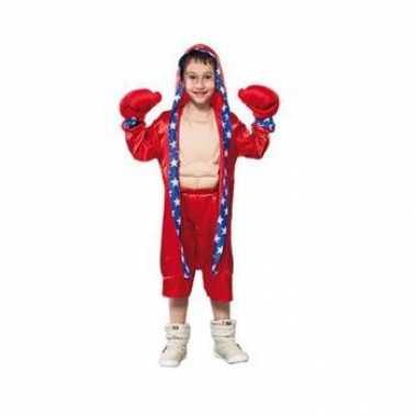 Carnaval  Rood bokser kostuum kinderen