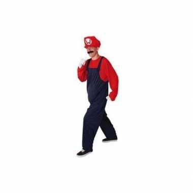 Carnaval  Rood heren kostuum loodgieter