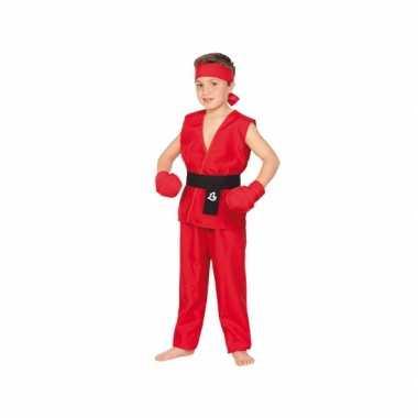 Carnaval  Rood Kung Fu kostuum kinderen
