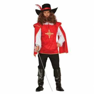Carnaval  Rood musketierskostuum heren
