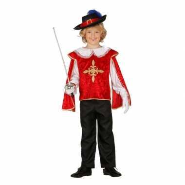 Carnaval  Rood musketierskostuum jongens