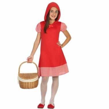 Carnaval roodkapje kinderjurkje meisjes kostuum