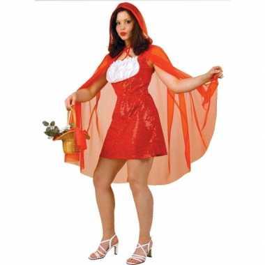 Carnaval  Roodkapje verkleed jurkje cape kostuum