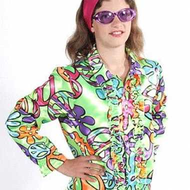 Carnaval rouge hippie blouse peace kids kostuum