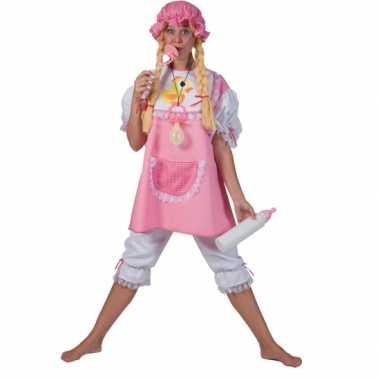 Carnaval  Roze baby pak volwassenen kostuum