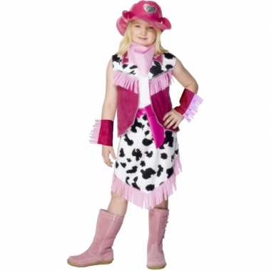 Roze Cowgirl carnavalskostuum kind