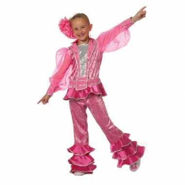 Carnaval  Roze disco kostuum meisjes