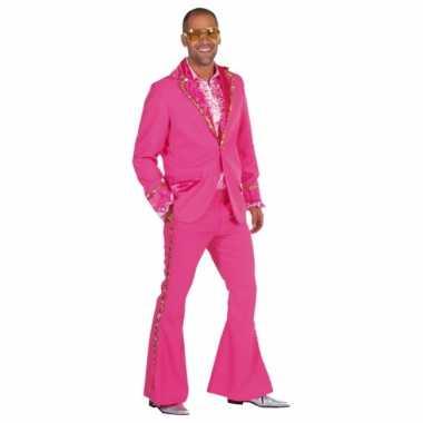 Carnaval  Roze disco kostuums heren