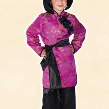 Carnaval  Roze geisha kostuum meisjes