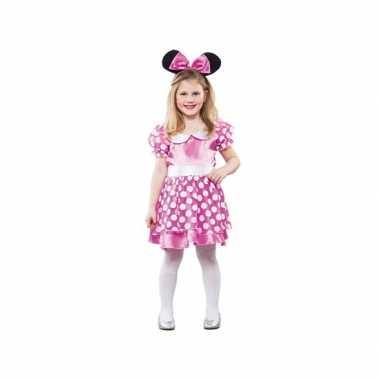 Carnaval  Roze gestippelde muis jurk kostuum