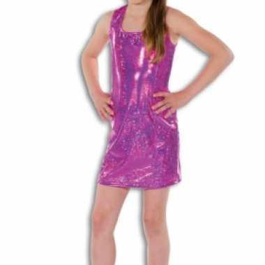 Carnaval  Roze glitter jurkje meisjes kostuum