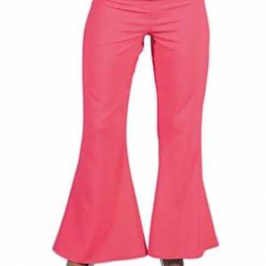 Roze hippie carnavals dames broeken kostuum