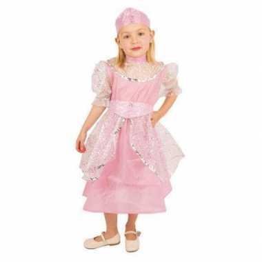 Carnaval  Roze jurk prinses kinderen kostuum