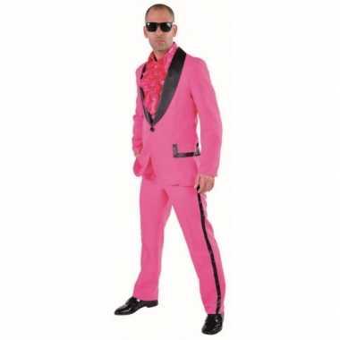 Carnaval  Roze maatkostuum heren