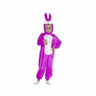 Carnaval  Roze paashaas kinder kostuum