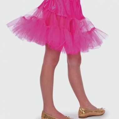 Carnaval  Roze petticoat rokje meiden kostuum