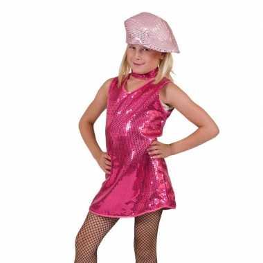 Carnaval  Roze showgirl jurk meisjes kostuum