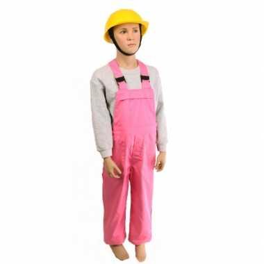 Carnaval  Roze tuinbroek kinderen kostuum