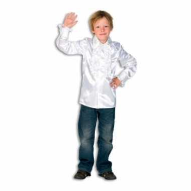 Carnaval  Satijnen blouse wit jongens kostuum
