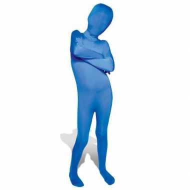 Carnaval  Secon skin kinder kostuum blauw