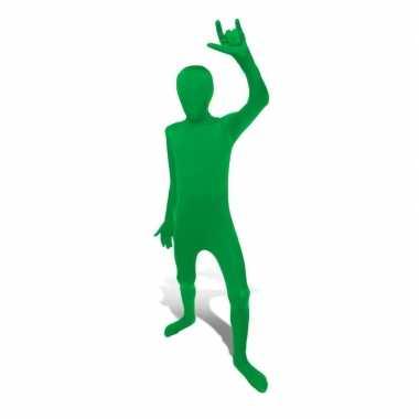 Carnaval  Secon skin kinder kostuum groen