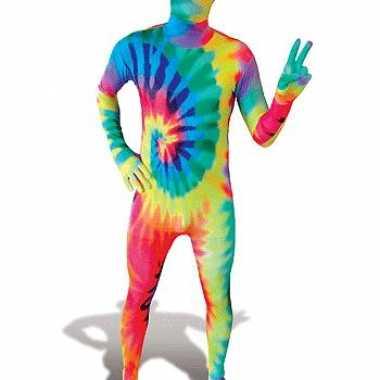 Second skin kostuum tie dye