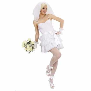 Carnaval  Sexy bruidsjurk kostuum