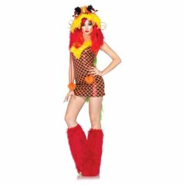 Carnaval  Sexy kostuum draken jurkje