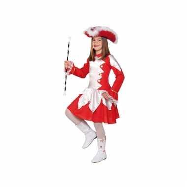 Carnaval  Showdans pak rood meiden kostuum