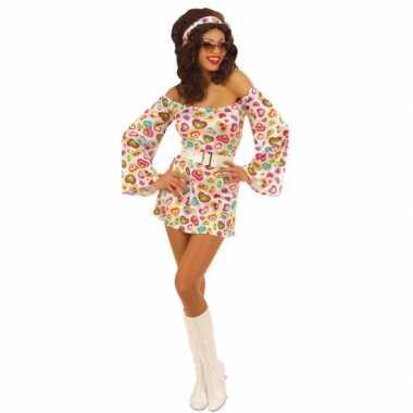 Carnaval  Sixties jurk vrouwen kostuum
