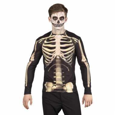 Carnaval skeletten herenshirt kostuum