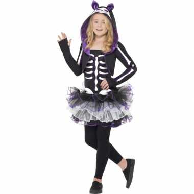 Carnaval  Skelleten kostuum kat meisjes