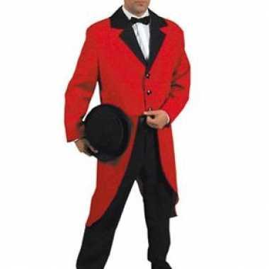 Carnaval  Slipjas rood dames heren kostuum