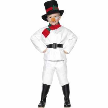 Carnaval  Sneeuwman kinder kostuum